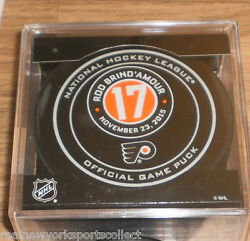 Rod Brind'amour Philadelphia Flyers Hall Of Fame Night Official Game Puck 11/23