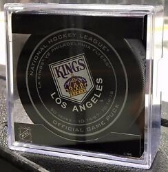 2016 Los Angeles Kings 50th Anniversary Opening Night Game Puck Rare 10/14
