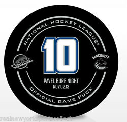 Pavel Bure Vancouver Canucks Retirement Night Official Puck Rare 11/02/13 10