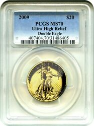 2009 Ultra High Relief $20 PCGS MS70 - Very Popular Issue - Very Popular Issue