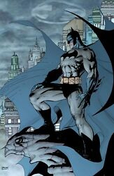 Jim Lee Rare Knightwatch Giclee Canvas Signed Batman Hush Cover With Coa
