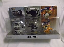 Amiibo Retro 3 Pack Gamestop Exclusive R.o.b Mr Game And Watch Duck Hunt Usa Versn