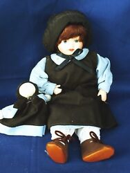 Antique Primitive Amish Girl Doll With Raggedy Ann Baby Look Alike ▬ 10 ❤️m17
