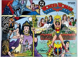 George Perez Rare Wonder Woman 1 Print Signed Color 12x18 Classic Cover Last Two