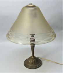 Outstanding And Large Daum Nancy French Art Deco Glass Lamp C. 1925 Antique