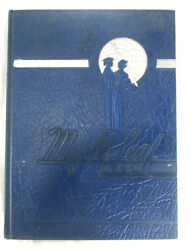 1944 Yearbook Hornell High School Albany New York Maple Leaf Blue Hardcover