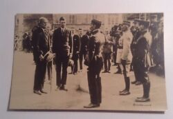 Rppc Post Card Charles Lindbergh Being Honored In France