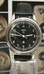 1968 VINTAGE SMITHS W10 MILITARY BLACK DIAL BRITISH ARMY WATCH SERVICED