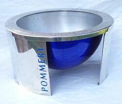 Pommery French Champagne Magnum Ice Bucket Cooler Chromium Andoslash 16 7/8