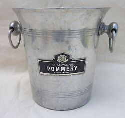 French Pommery Aluminum Champagne Ice Bucket Cooler Reims France 1960