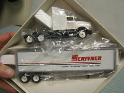 Winross Scrivner York Pa Tractor Trailer 1/64 Reefer Diecast Made In Usa Mib