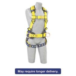 Capital Safety 098-1101655 Full-body Harness, Tongue Buckles, Side/back D-rings,