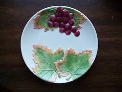 Vintage Jay Willfred Andrea By Sadek Plate Grapes Leaves Portugal 7-1/2 Inch