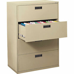Sandusky E204L07 4-Drawer Lateral File-Putty 30in.W x 18in.D x 53 14in.H