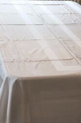 Vintage Off-white Tablecloth 60x118 - Rayon - Clean, Table-ready, Ironed - Exc