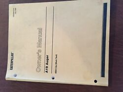 Caterpillar Cat A19 Auger Owners Maintenance Manual Operation Parts