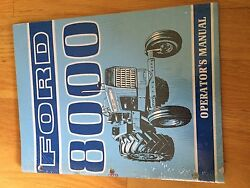 New Holland Ford Operator Tractor Manual 8000 Operator's