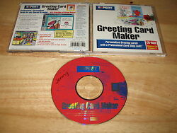 Expert Software Greeting Card Maker Pc Cd-rom 1995 1996 For Windows 3.1/95