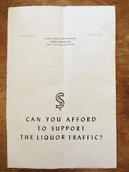 1950s Social Cause Issue Anti Drinking Alcohol Signal Press One Page Sheet Flyer