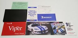 2002 Dodge Viper Owners Manual Operators User Guide Rt/10 Gts V10 8.0l Coupe Set