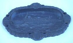 French Ss Normandie Ocean Liner Ashtray Tin Art Deco 30's