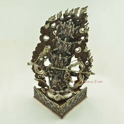 Fine Quality 14.5 Rahula Oxidized Copper Alloy Statue From Patan Nepal