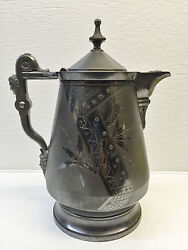 Rogers Smith And Co Silver Tankard Pitcher 14 Antique 1868