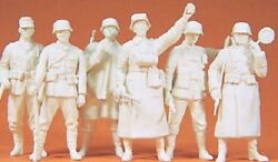 Preiser 135 Scale 64003 Military Six Wwii Unpainted Guard Figures Kit