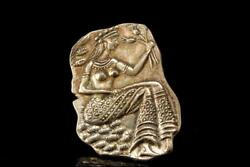 VINTAGE EGYPTIAN WOMEN 925 STERLING REPOUSSE PIN BROOCH PENDANT A75609 $95.00