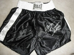 Mike Tyson Signed Autographed Boxing Trunks Coa + Proof