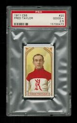 Psa 2.5 Fred Taylor 1911 Imperial Tobacco C55 Hockey Card 20 Centered