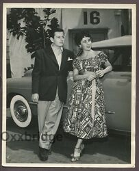 Elizabeth Taylor And Andre Previn Hollywood Teenage Royalty 1948 Candid Photo