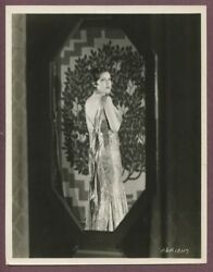 Fay Wray Elegant Flapper Girl Gown Roaring 1920s Linen Backed Glamour Photo J689
