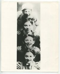Marx Brothers As Young Children Very Early London Times Scrapbook Photo J2481