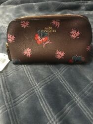 coach cosmetic case 17 Wildflower Print $35.00