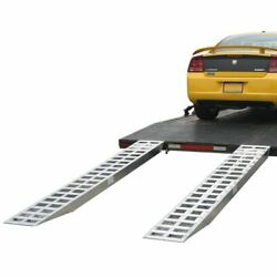 10and039 X 20 Aluminum Ramps With Pin-on Ends - 5000 Lb Capacity Per Axle Knife St