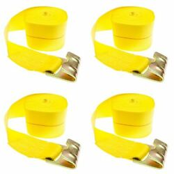 4-pack Of 4 X 30and039 Heavy-duty Ratchet Strap With Flat Hook