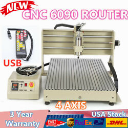 3D Cutter Engraving Machine 4 Axis 6090 CNC Router + Remote Controller 1.5KW USB