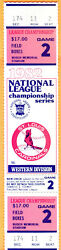 Awesome Full Ticket 1982 Nlcs Playoffs Gm 2-cardinals/braves