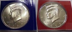 2009 P And D Choice Uncirculated Satin Finish Kennedy Half Dollars From Mint Sets