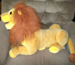 Disney The Lion King Simba Full Bodied Hand Puppet 22in Laying Plush Lion Htf