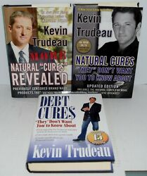 3 By Kevin Trudeau Debt Cures,natural Cures And Natural Cures Revealed Ships Free