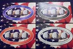 4 Sets2001 P+d +gold Plated + Platinum State Quarters 20 Coins Total