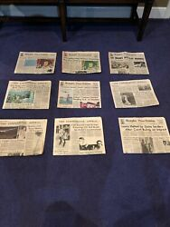 Extremely Rare Elvisandrsquos Death Newspapers- Lot Of 9 Ranging From August 17-23 1997
