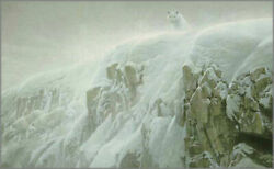 Robert Bateman Arctic Cliff White Wolves Showstopper Canvas Giclee