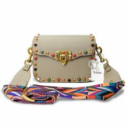Yoome Mini Crossbody Bag Designer Clutch For Women Rivets Bags With Colorful Str