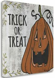 Tangletown Fine Art 'Jack-o-Lantern' Graphic Art Print on Wrapped Canvas