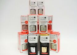 Cnd Shellac Gel Polish Base + Top Coat .25oz/7.3ml And 1 Color Of Your Choice