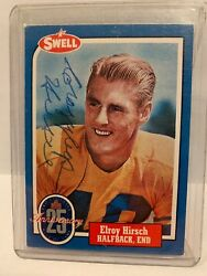 Elroy Crazy Legs Hirsch Hall Of Fame Signed Card Deceased 2004 Rare