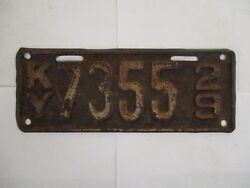 1929 Kentucky  MOTORCYCLE  License Plate Tag
